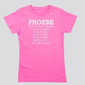 Friends phoebe name light Girl's Tee