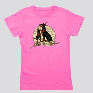 The Gentleman's Terrier by Molly Yang Girl's Tee