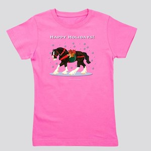 Christmas Clydesdale Girl's Tee
