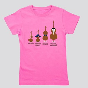Funny Orchestra String Instruments Girl's Tee