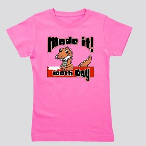 100th Day Dinosaur Made It Girl's Tee
