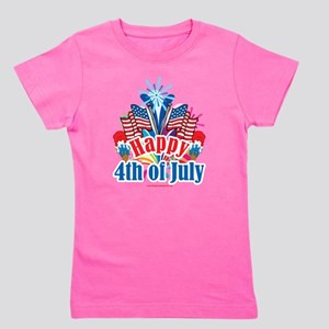 Happy-4th-of-July Girl's Tee