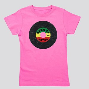 Reggae Record - Scratch Texture Girl's Tee