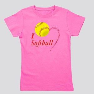 i love softball Girl's Tee