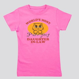 One Purrfect Daughter-In-Law Girl's Tee