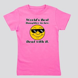 Worlds Best Daughter-In-Law Humor Girl's Tee