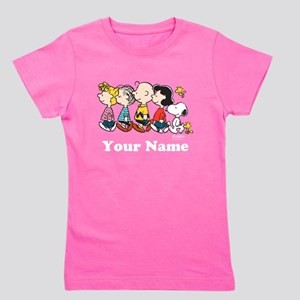 Peanuts Walking No BG Personalized Girl's Tee