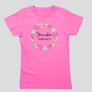 Personalized Floral Wreath T-Shirt