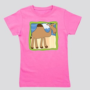 Wandering Camel with Green Border T-Shirt