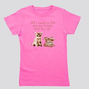 Cats and books Girl's Tee