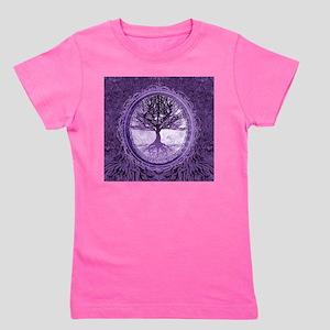 Tree of Life in Purple Girl's Tee