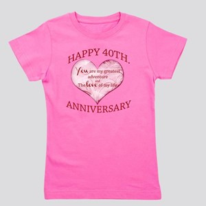 40th. Anniversary Girl's Tee