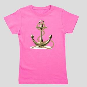 Gold Anchor Girl's Tee