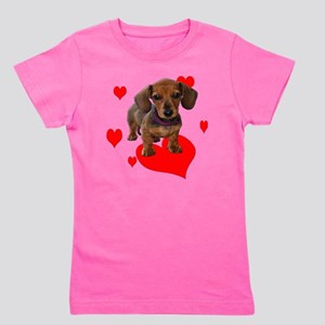 Love Dachshunds Girl's Tee