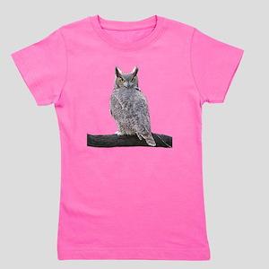 Great Horned Owl-1 Girl's Tee