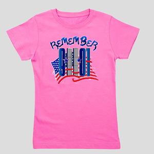 Remember 9/11 - 9-11-01 Twin Towers Mem Girl's Tee