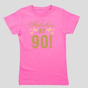 Fabulous 90th Birthday Girl's Tee