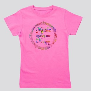 Music Makes Me Happy Girl's Tee