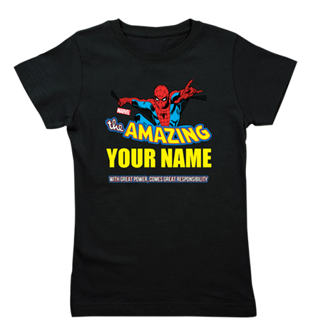 The Amazing Spider-man Personalized Girl's Tee