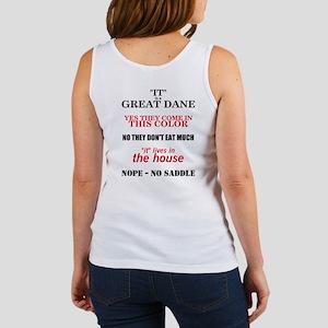 Great Dane Walking bk prnt Women's Tank Top