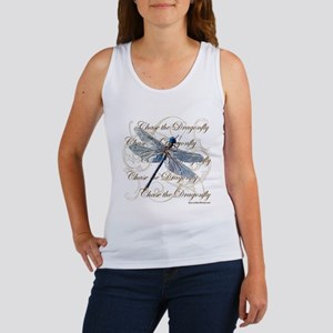 Blue Dragonfly Collage Tank Top