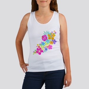 Tropical Flowers Women's Tank Top