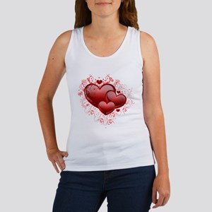 Floral Hearts Women's Tank Top