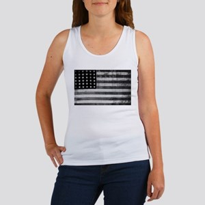 American Vintage Flag Black and White hor Tank Top
