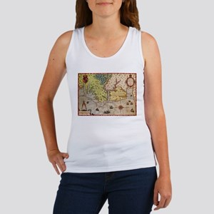 Vintage Map of The North Carolina Coast ( Tank Top