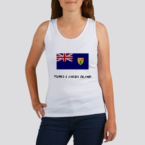 Turks & Caicos Island Flag Women's Tank Top