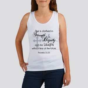 Proverbs 31:25 She is Clothed in Strength Tank Top