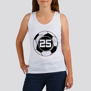Soccer Number 25 Player Women's Tank Top