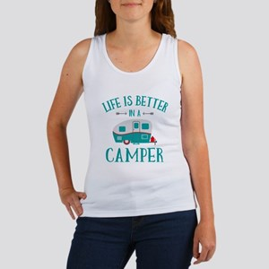 Life's Better Camper Women's Tank Top