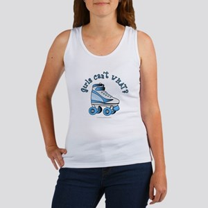 Light Blue Roller Derby Skate Women's Tank Top