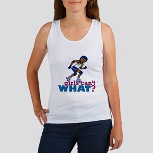 Blue Roller Derby Girl Women's Tank Top