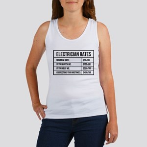 Electrician Rates Women's Tank Top