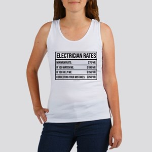 Electrician Rates Humor Tank Top