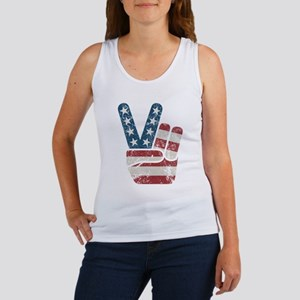 Peace Sign USA Vintage Women's Tank Top