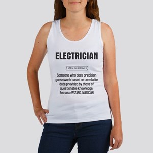 Funny Electrician Definition Tank Top