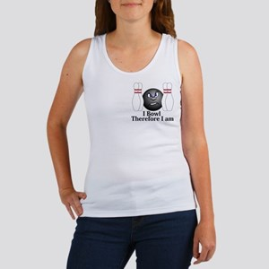 I Bowl Therefor I Am Logo 3 Women's Tank Top Desig