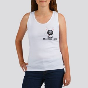 I Bowl Therefor I Am Logo 5 Women's Tank Top Desig