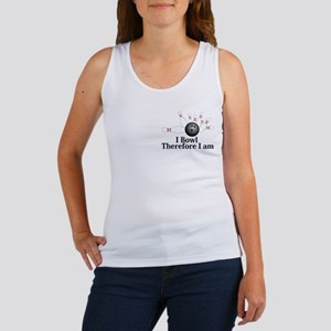 I Bowl Therefor I Am Logo 2 Women's Tank Top Desig