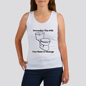 PERSONALIZED Toilet Graphic Tank Top