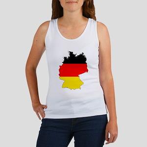 German Flag Silhouette Tank Top