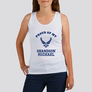 Air Force Grandson Personalized Tank Top