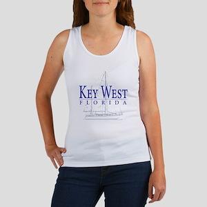 Key West Sailboat - Women's Tank Top