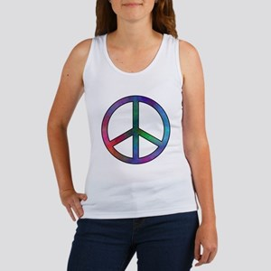 Multicolor Peace Sign Women's Tank Top