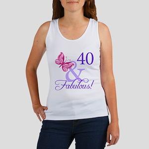 40 And Fabulous Women's Tank Top