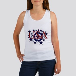 USA Red, White and Blue Women's Tank Top