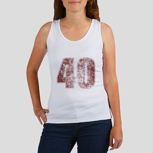 40th Birthday Red Grunge Women's Tank Top